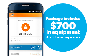AT&T Digital Life Smart Security package equipment for $149.99* (packages includes $700 in equipment if purchased separately)